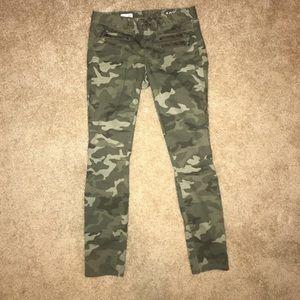 Gap 1969 Always Skinny Green Camo Jeans 27R